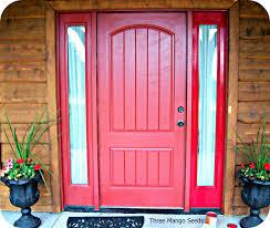 Red Front Doors Three Mango Seeds Front Door Sprucing