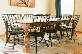 modern farmhouse dining room transform a contemporary dining table to a farmhouse table