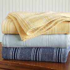Summer Coverlet Just Found This Cotton Summer Blankets Lightweight Yarn Dyed