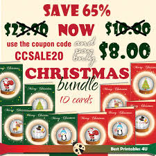 discount christmas cards christmas cards bundle 10 printable christmas cards 65