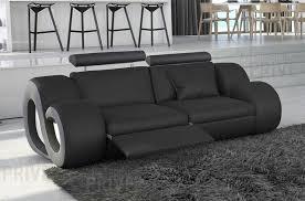 canap noir et gris canapé 2 places en cuir supérieur luxe haut de gamme italien