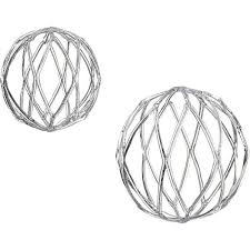 metal orb ornaments