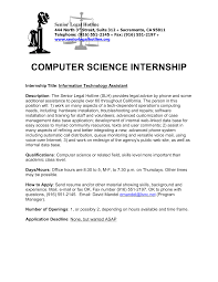 information technology graduate resume sle cover letter for summer internship in computer science image
