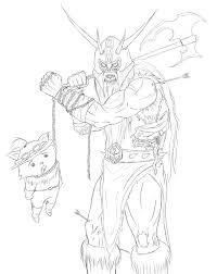olaf zombie league of legends sketch by knarrenheinx on deviantart