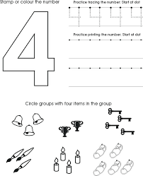 numbers coloring pages 1 20 number 4 coloring pages preschool