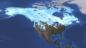 Maps America by Svs North America Snow Cover Maps