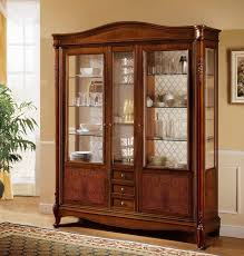 3 Door Display Cabinet Classic Display Cabinet With 3 Doors And 3 Drawers With Curved