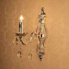 Torch Wall Sconce Online Shop European Torch Carved Alloy Clear Crystal Corridor