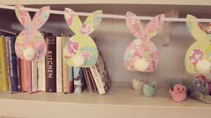 easter crafts how to make bunny bunting youtube