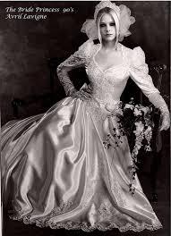 avril lavigne black wedding dress avril lavigne promo the princess 1990 black white a