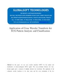 pattern classification projects ieee 2014 matlab image processing projects application of cross wavel
