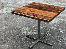 Reclaimed Wood Bistro Table Industrial Pub Table Bar Table Reclaimed Wood Table