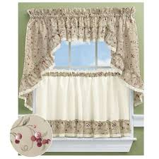 Ruffled Kitchen Curtains Ruffled Kitchen Tier Curtains
