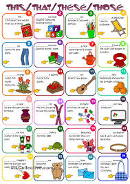 Esl Vocabulary Worksheets Demonstratives This That These Those Worksheet Free Esl