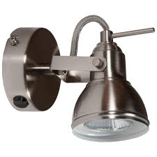 Ceiling Spot Light Fittings Thlc Satin Silver Finish Vintage Retro Style 1 Way Wall Or Ceiling