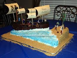 coolest pirate ship and island birthday cake pirate ships