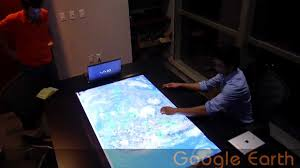 Interactive Meeting Table Crunchy Logistics Large Multi Touch Conference Table