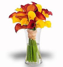 calla lilies bouquet about mango calla bouquet rich vinrant color from your