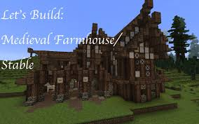 minecraft let u0027s build a medieval farm farmhouse stable youtube