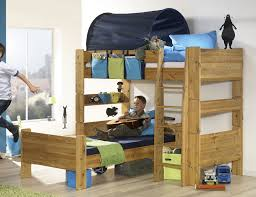 Bunk Bed Retailers Pine Corner Bunk Bed With Blue Tunnel And Pockets From The Bed
