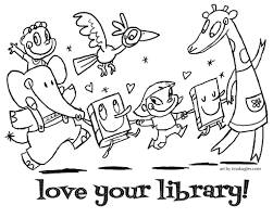 library coloring pages exciting brmcdigitaldownloads