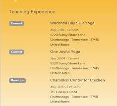 build your online yoga resume yoga alliance