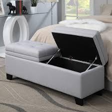 Storage Bedroom Bench Kinfine Upholstered Storage Bedroom Bench On With Hd Resolution