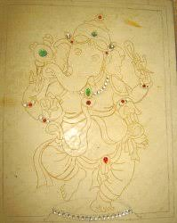 indian heritage creation of thanjavur paintings step by step