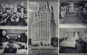 piccadilly thanksgiving menu hotel piccadilly toast of the theater district ephemeral new york
