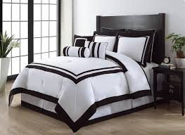 Black Comforter Sets King Size Get Alluring Visage By Displaying A White Comforter Sets King
