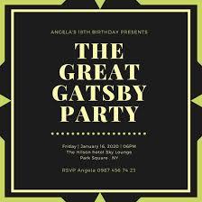 gatsby invitations great gatsby invitation template diabetesmang info