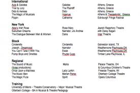 Theater Resume Sample by In This Theater Acting Resume Example There U0027s Very Little Mention