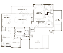 3 bedroom 2 bath 2 car garage floor plans residence i wine country builders zinfandel ridge