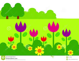 Art Garden Flower Garden Clipart 105277