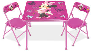 Childrens Folding Table And Chair Set Disney Minnie Mouse First Fashionista Kids Activity Table Set With