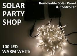 solar power led lights 100 bulb string 100 warm white led solar fairy lights clear string solar party shop