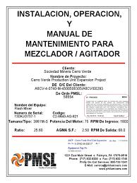 manual del agitador gear corrosion