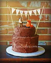 woodland animals camping birthday cake camping birthday cake and