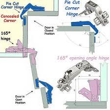 Danco Kitchen Cabinet Hinges Pie Cut Corner Hinges Set Kitchen Concealed Corner Cabinet Bi Fold