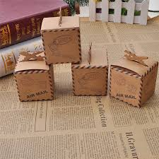 where can i buy christmas boxes 12pcs lot diy candy boxes air mail brown kraft paper gift box