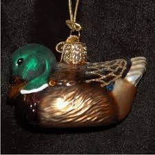 mallard duck glass personalized ornaments by