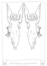 christmas angel coloring page holly ivy free angel coloring pages