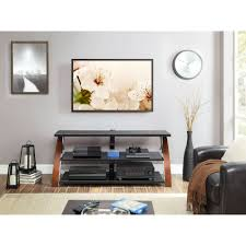 Tv Stand Whalen Brown Cherry 3 In 1 Flat Panel Tv Stand For Tvs Up To 65