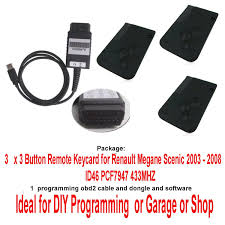 obd2 tool soft for renault 3 unit megane scenic 3 button