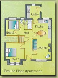 semi detached floor plans plan for ground floor two bedroom semi detached apartments at cill