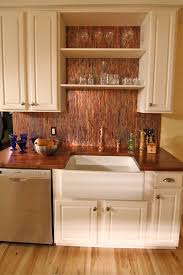 copper backsplash copper kitchen backsplash