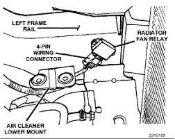 2002 dodge caravan cooling fan relay wiring wiring diagram