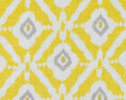 Chenille Upholstery Fabric Uk Yellow Grey Upholstery Fabric Grey Ikat Geometric Fabric