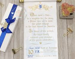 Scroll Invitation Royal Scroll Invitation Etsy