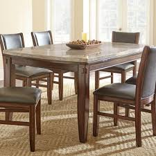Dining Tables With Marble Tops Steve Silver Eileen Marble Top Dining Table With Tapered Legs And
